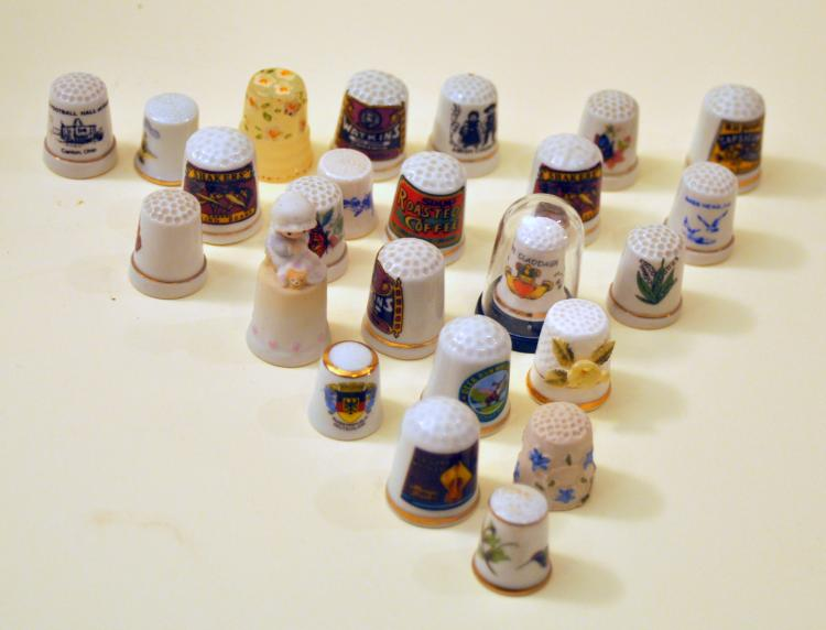 Vintage thimble collection porcelain