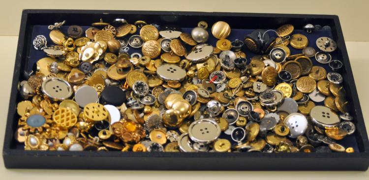 Vintage button collection metal inc. brass