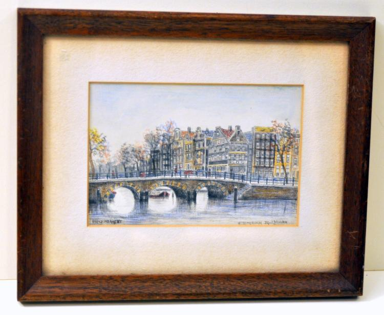 Amsterdam original graphite signed picture