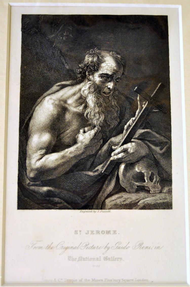 Engraving 1842 St. Jerome Fussell