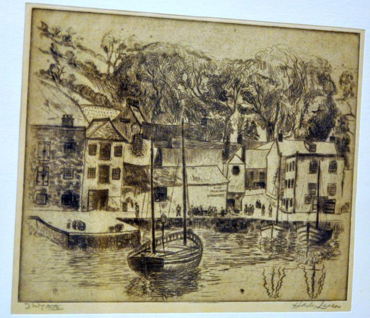 Hayley Lever signed etching 1927