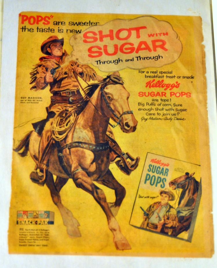 Guy Madison advertising horse cowboy