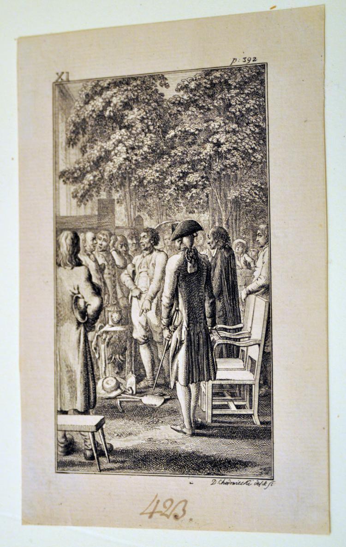 Chodowiecki etching 18thc gentlemans discussion