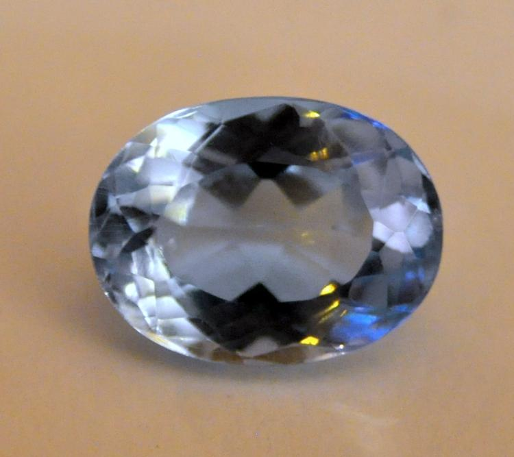Blue topaz gemstone faceted cushion cut