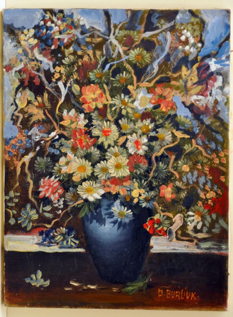 Burliuk floral oil painting
