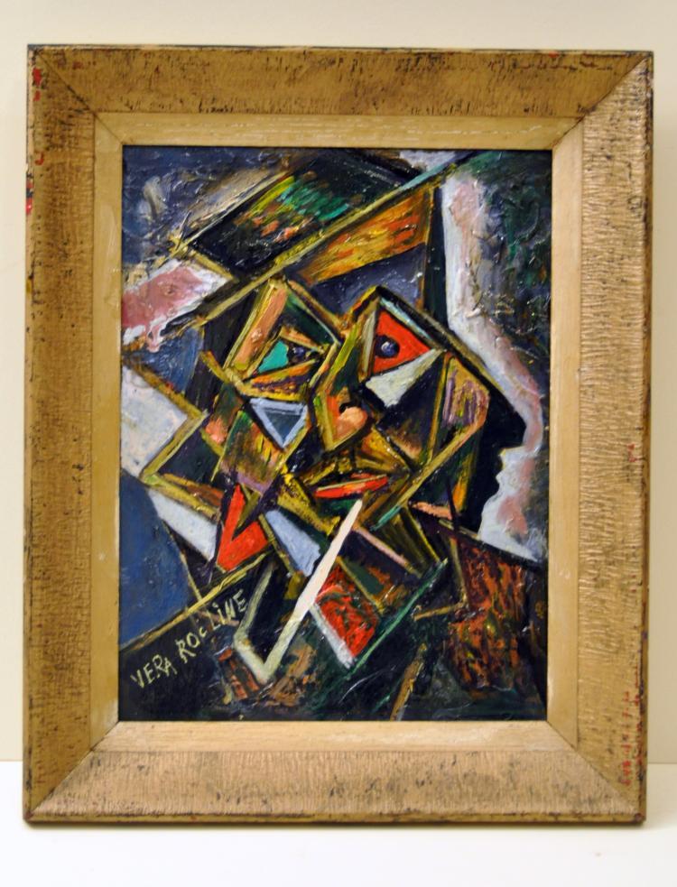 Vera Rocline cubist oil painting