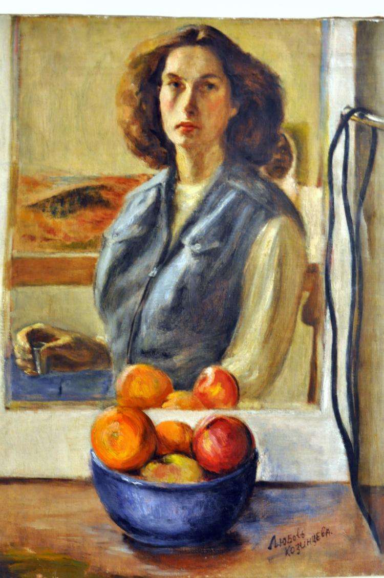Self portrait oil Kozinczeva