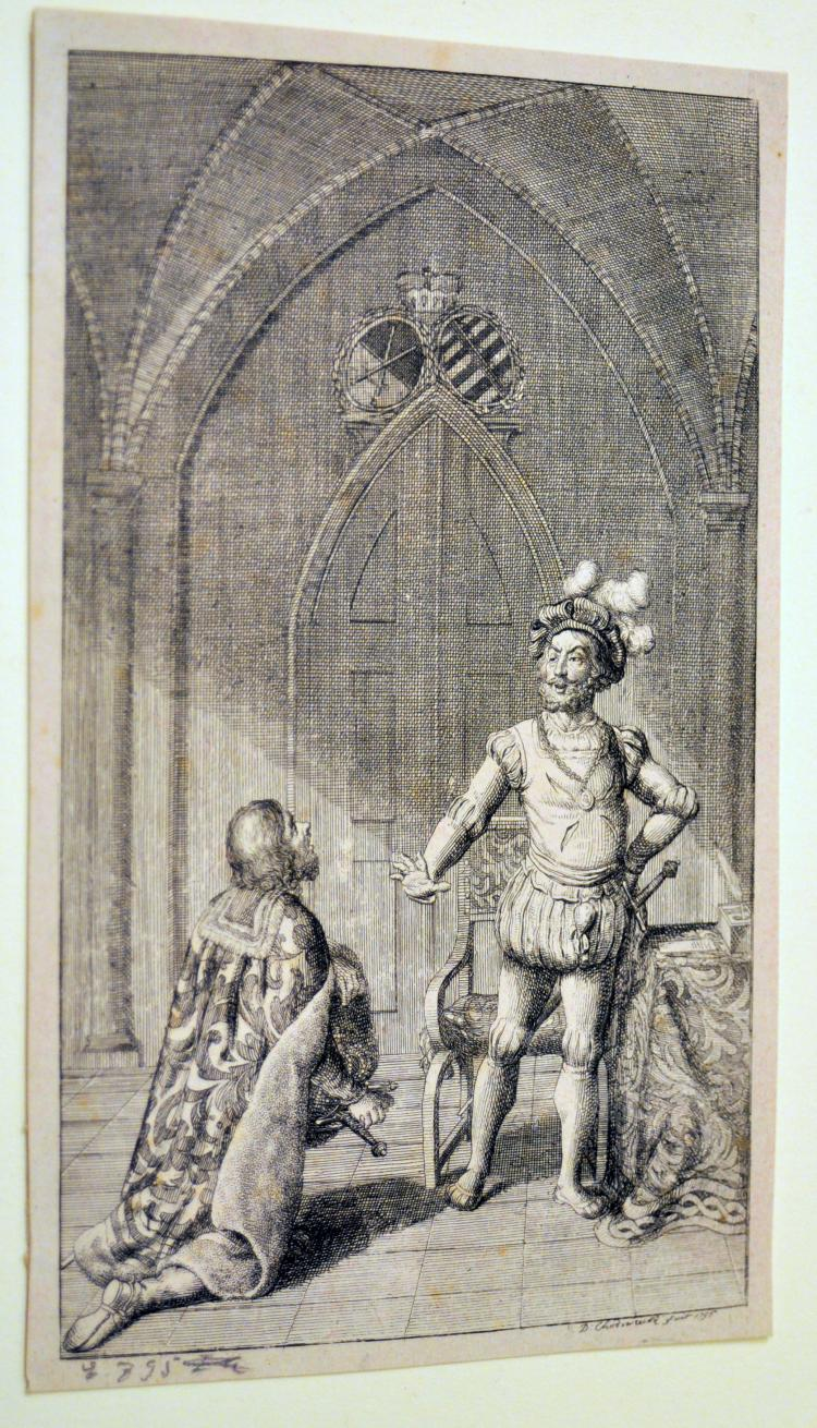 Chodowiecki etching 1795 King and his Knight