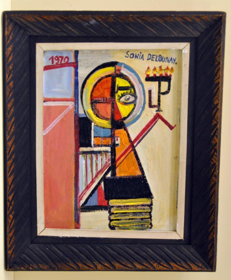 Sonia Delaqunay 1970 oil framed