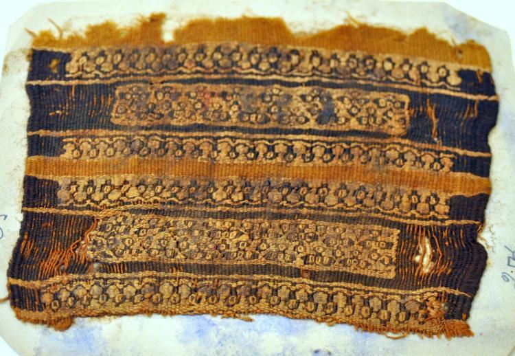 Coptic fabric geometric fish