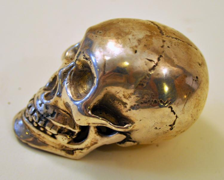 Skeleton head silver colored