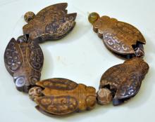 Carved Chinese jade cicadas