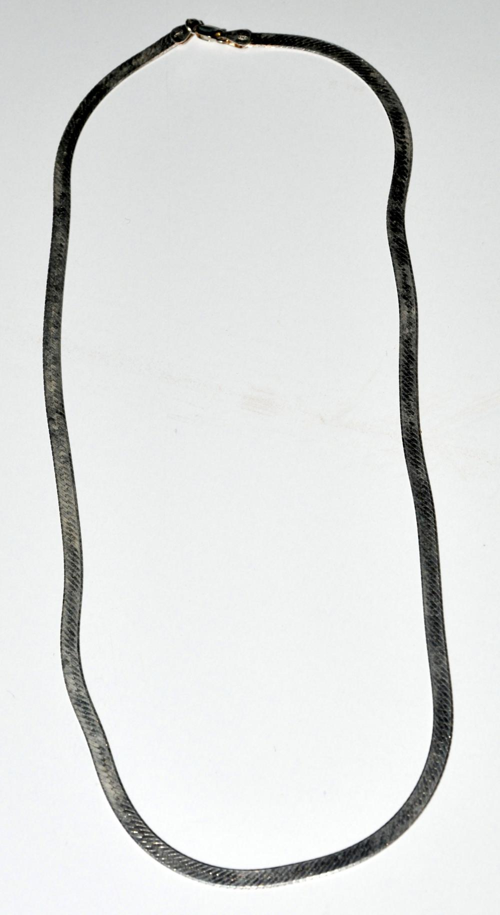 Sterling herringbone chain - 20 inches