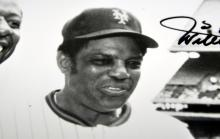 Lot 13: Willie Mays signed photo+ Hank Aaron