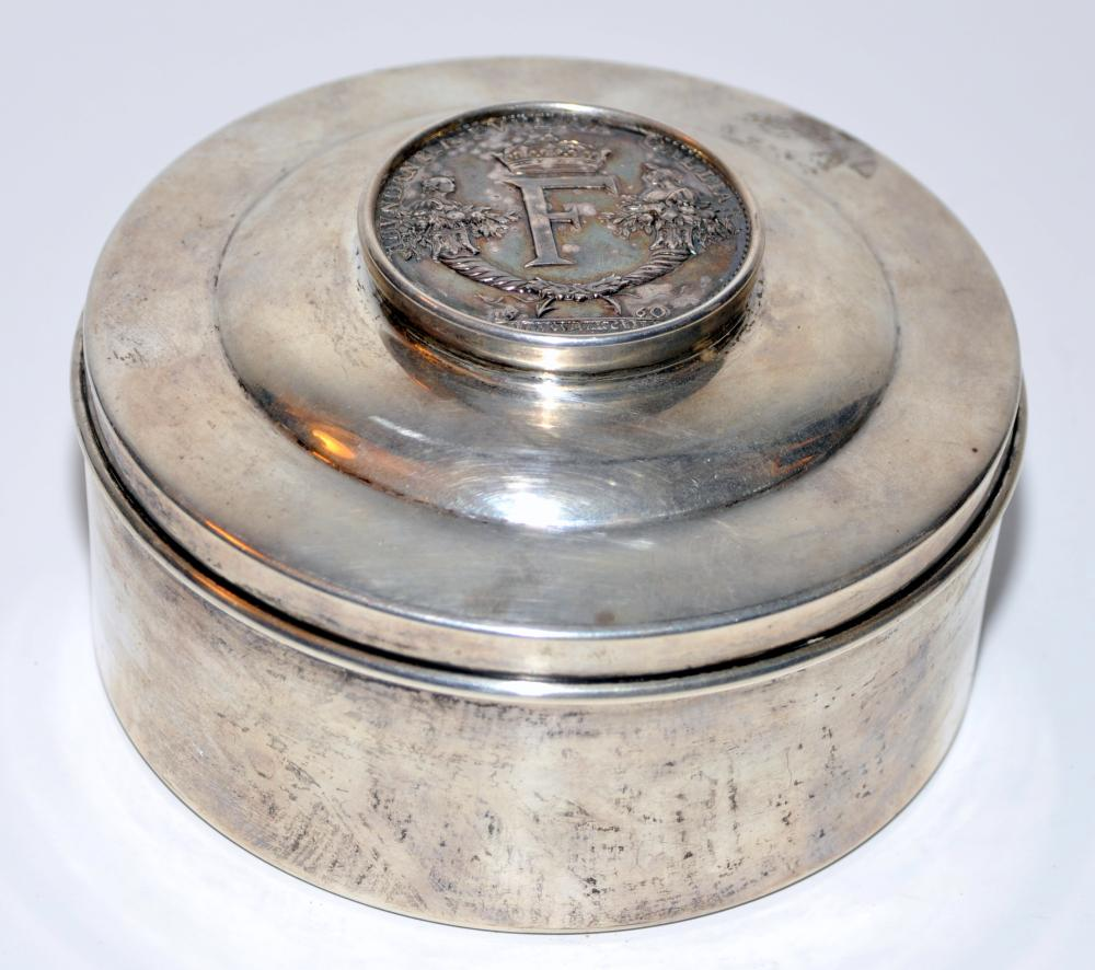 Sterling antique box/coin