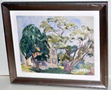 Lot 44: Hayley Lever watercolor Gloucester MA