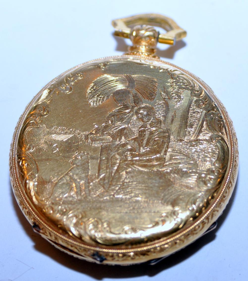 Lot 56: Gold antique pocketwatch M J Tobias