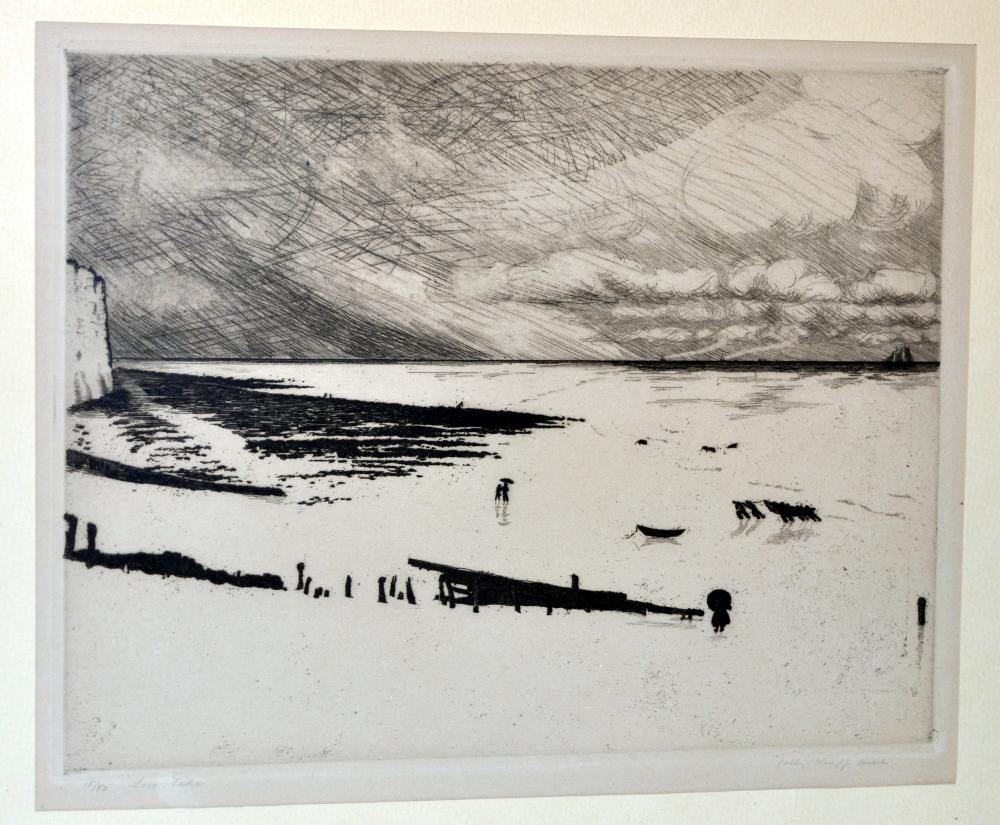 Polly Knipp Hill etching signed