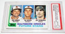 Lot 83: 1982 Topps Cal Ripken Jr card