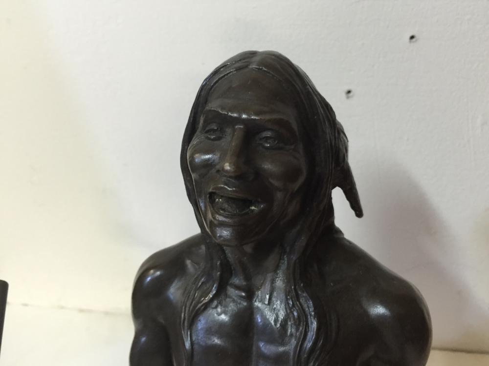 Lot 92: Bronze Indian drummer statue