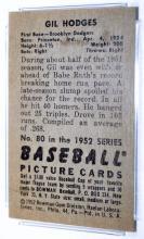 Lot 93: 1952 Bowman Gil Hodges Brooklyn Dodgers