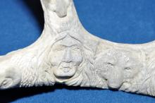 Lot 94: Carved antler American Indian /animals