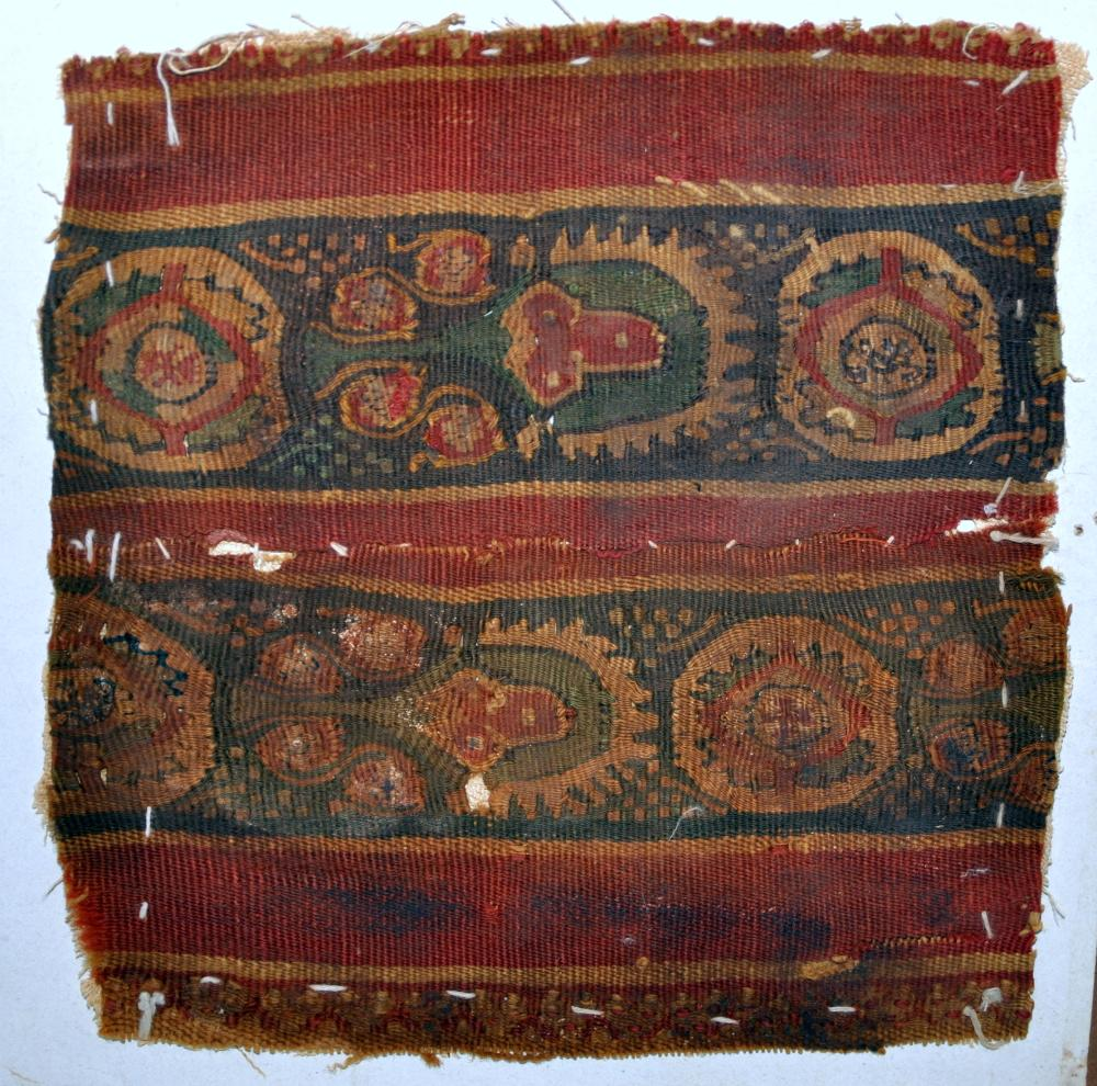 Coptic fabric maroon red