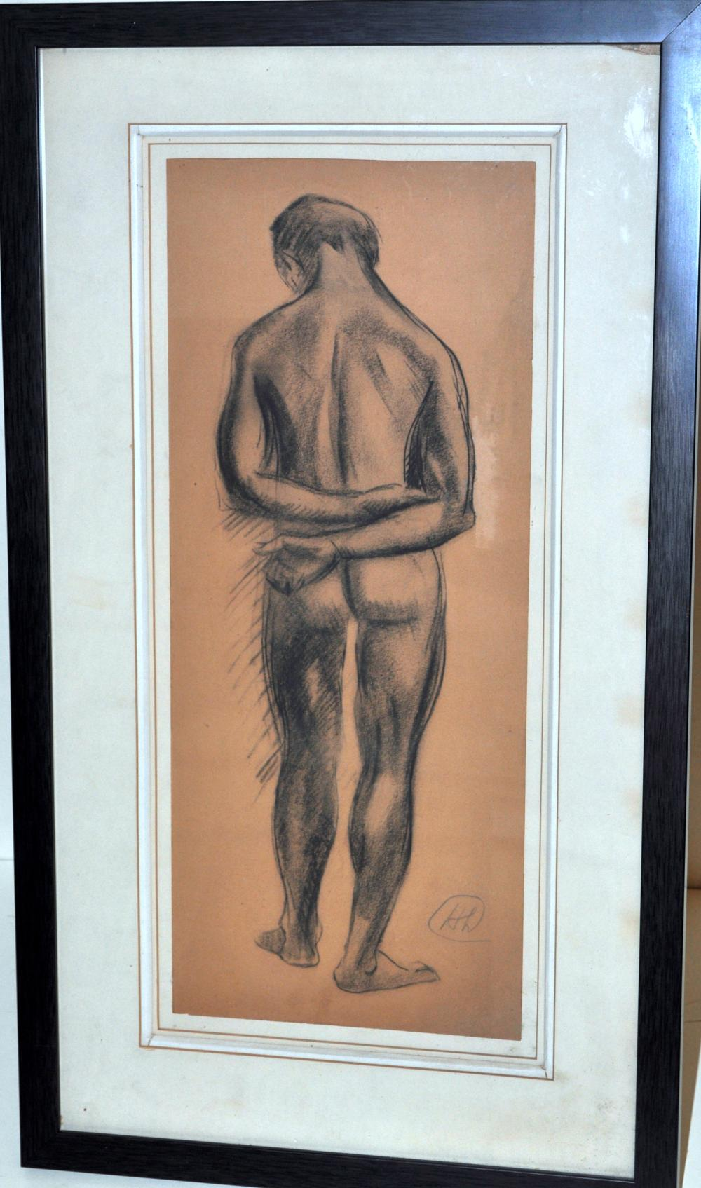 Lot 98: Hayley Lever nude sketch framed