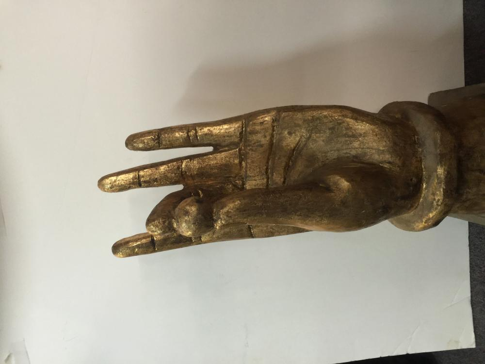 Large wood carved hand