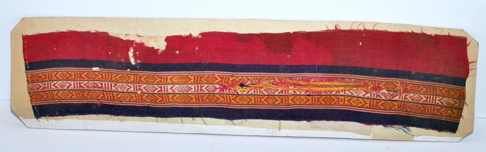 Coptic fabric edging red
