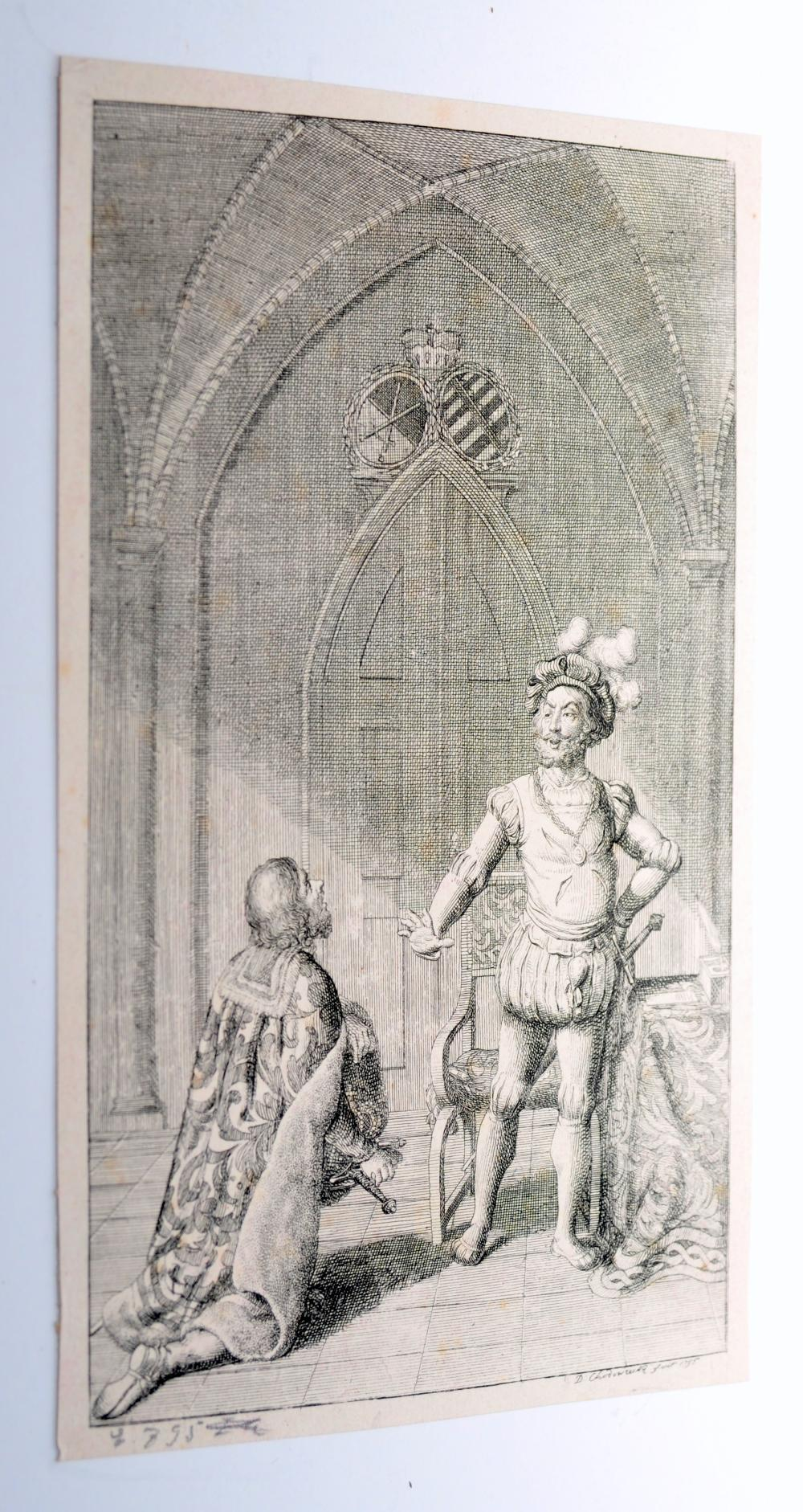 Chodowiecki etching signed 1795