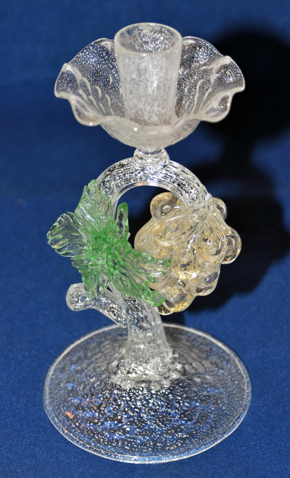 Candlestick Murano hand blown glass