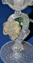 Lot 134: Candlestick Murano hand blown glass