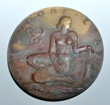 Lot 140: Bronze medallion Luxembourg spa vintage