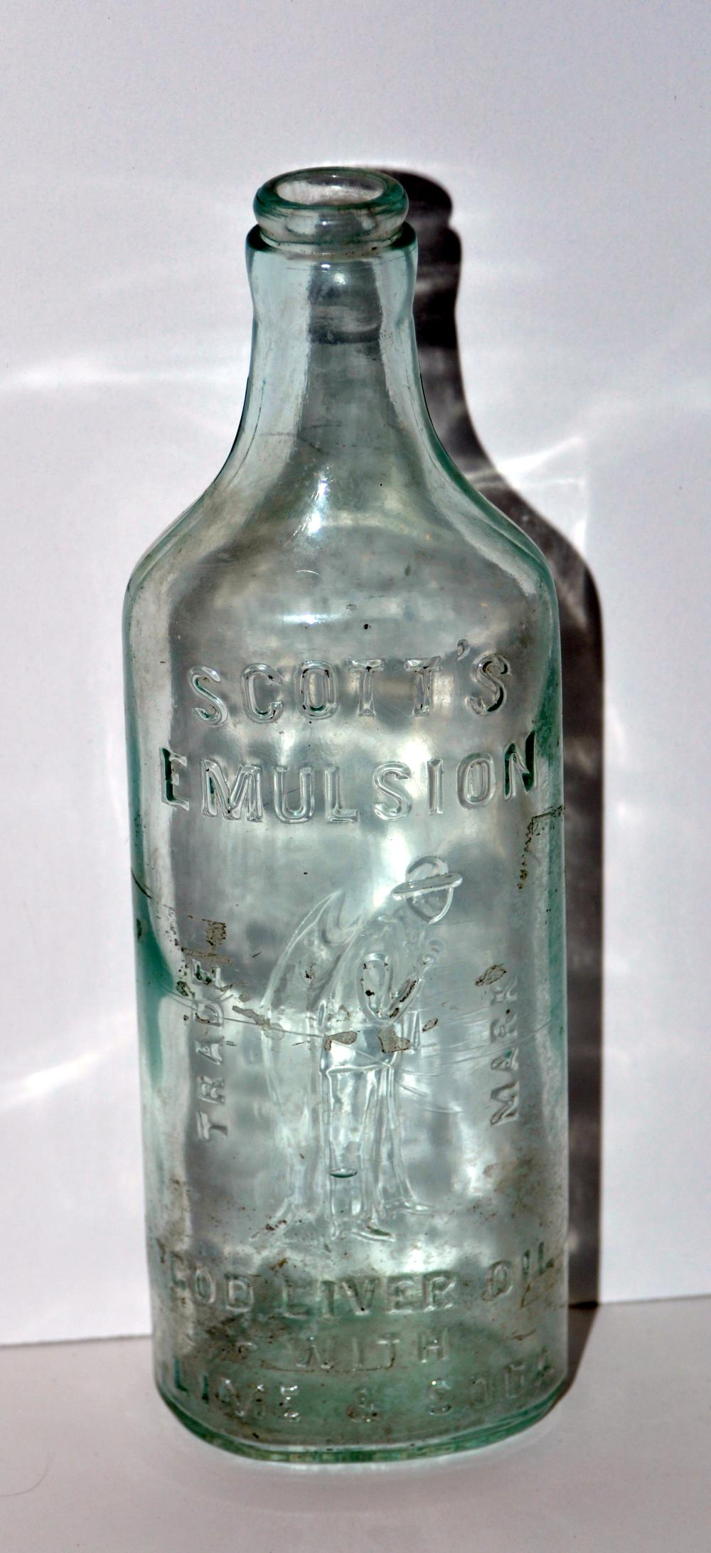 Scotts vintage emulsion bottle - cod liver oil