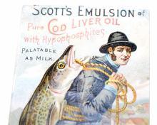 Lot 142: Scotts vintage emulsion bottle - cod liver oil