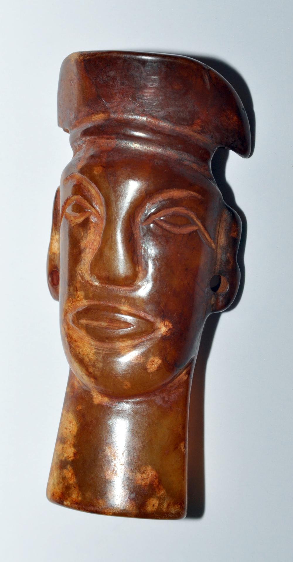 Stone head hand carved native