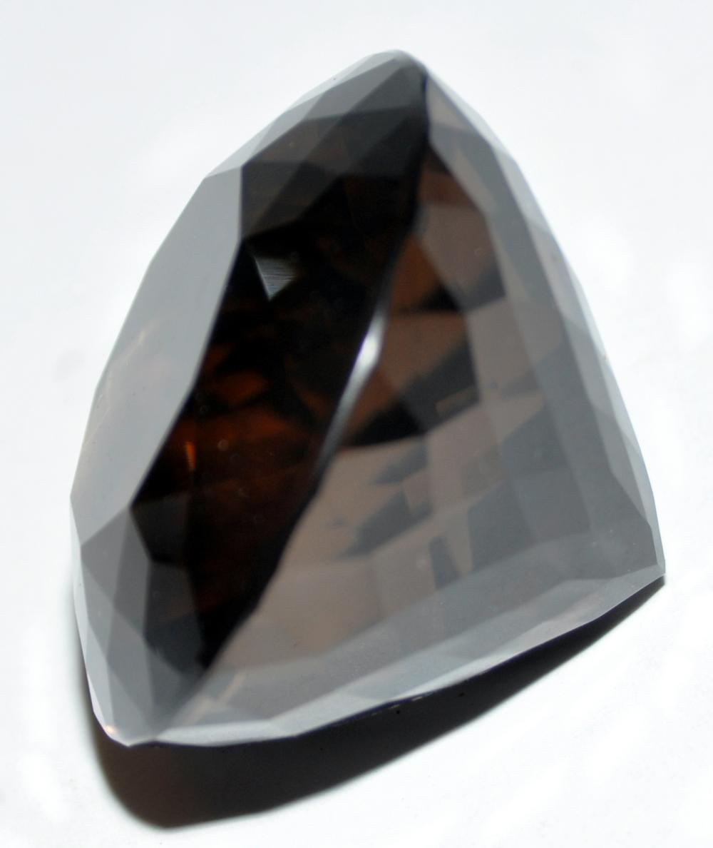 Smoky quartz cut stone faceted - 270 cts