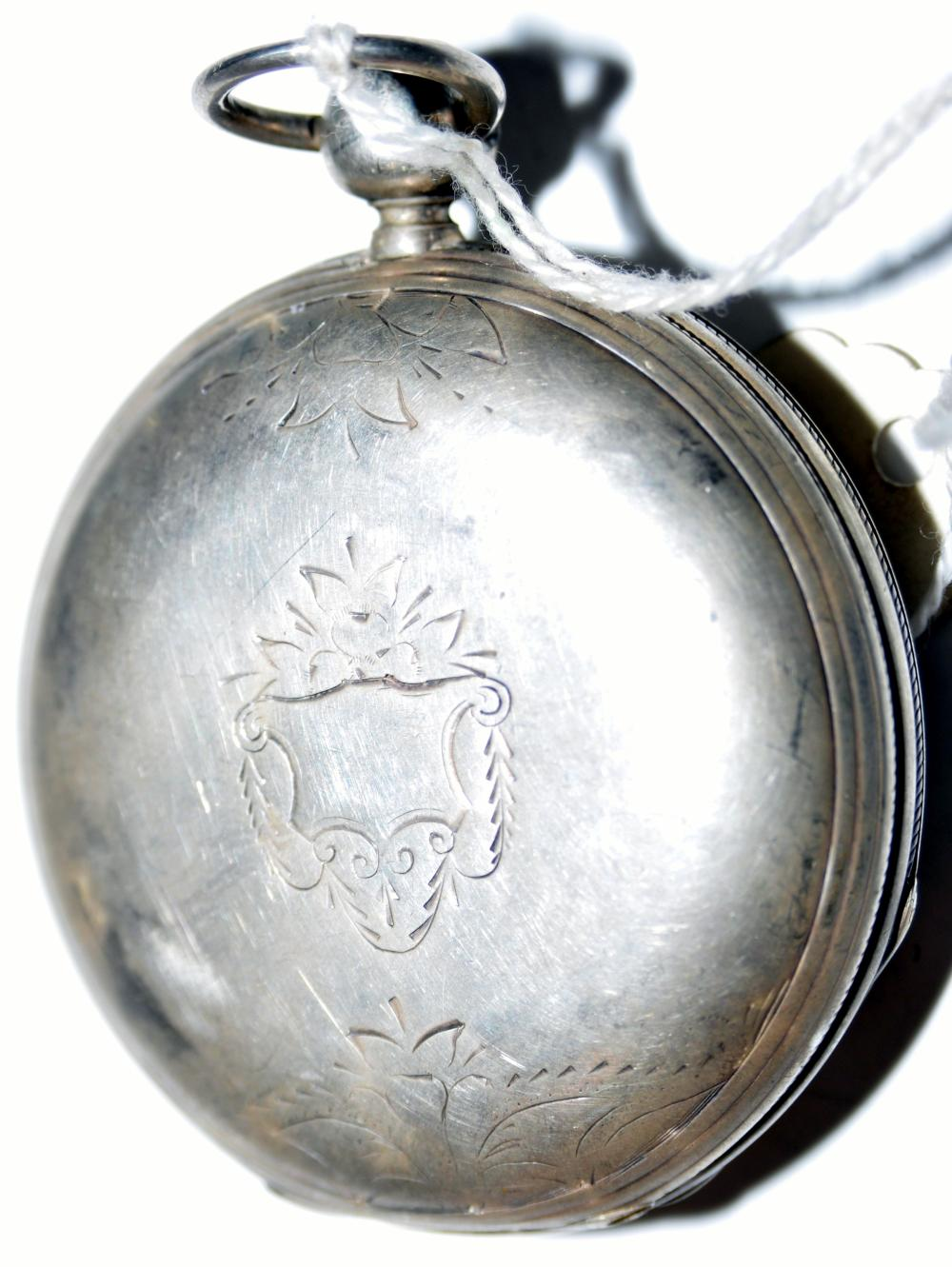 Lot 152: Pocketwatch coin silver hunter #18 elgin