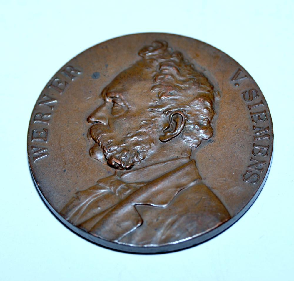 Bronze medallion Siemens airship commemorative