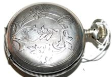 Lot 162: Elgin pocketwatch sterling hunter