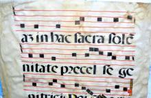 Lot 168: Illuminated manuscript 14th-15th c parchment