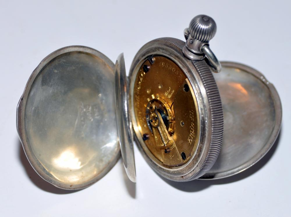 Pocketwatch Elgin #18 watch Fahy's case