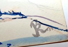 Lot 192: Rokus watercolor signed 1989