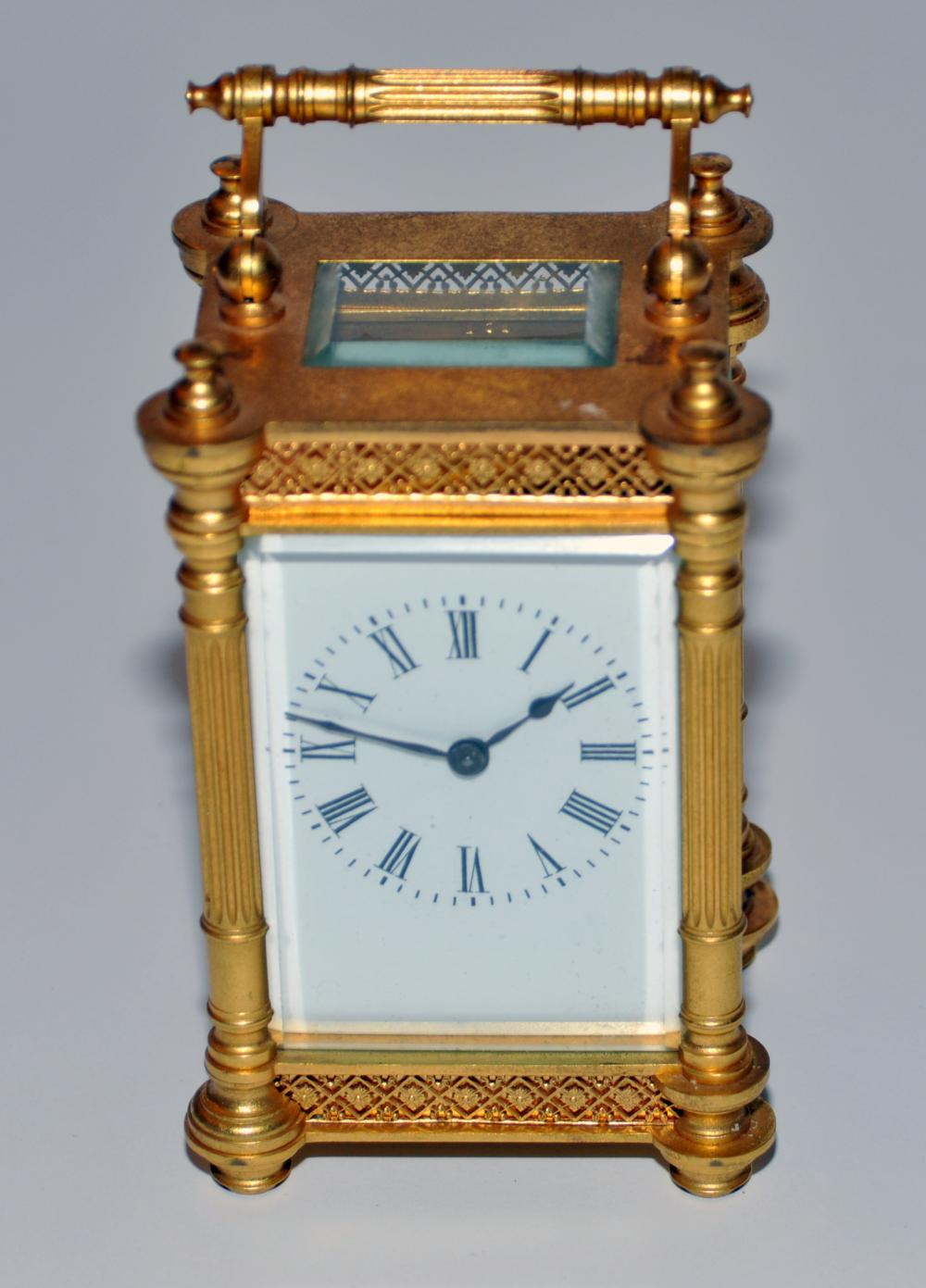 Carriage clock 19th c - key - brass