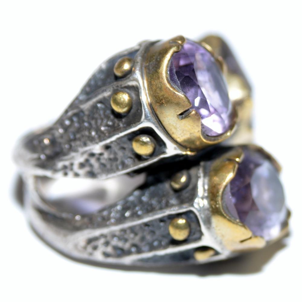 Lot 204: Amethyst sterling ring custom