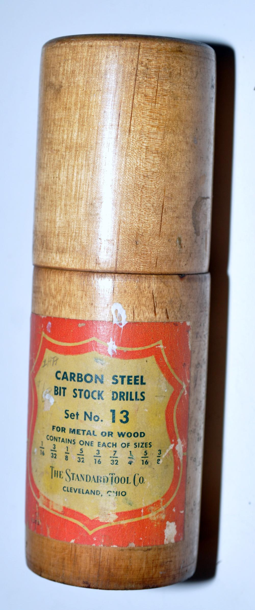 Vintage carbon steel bit drills -set