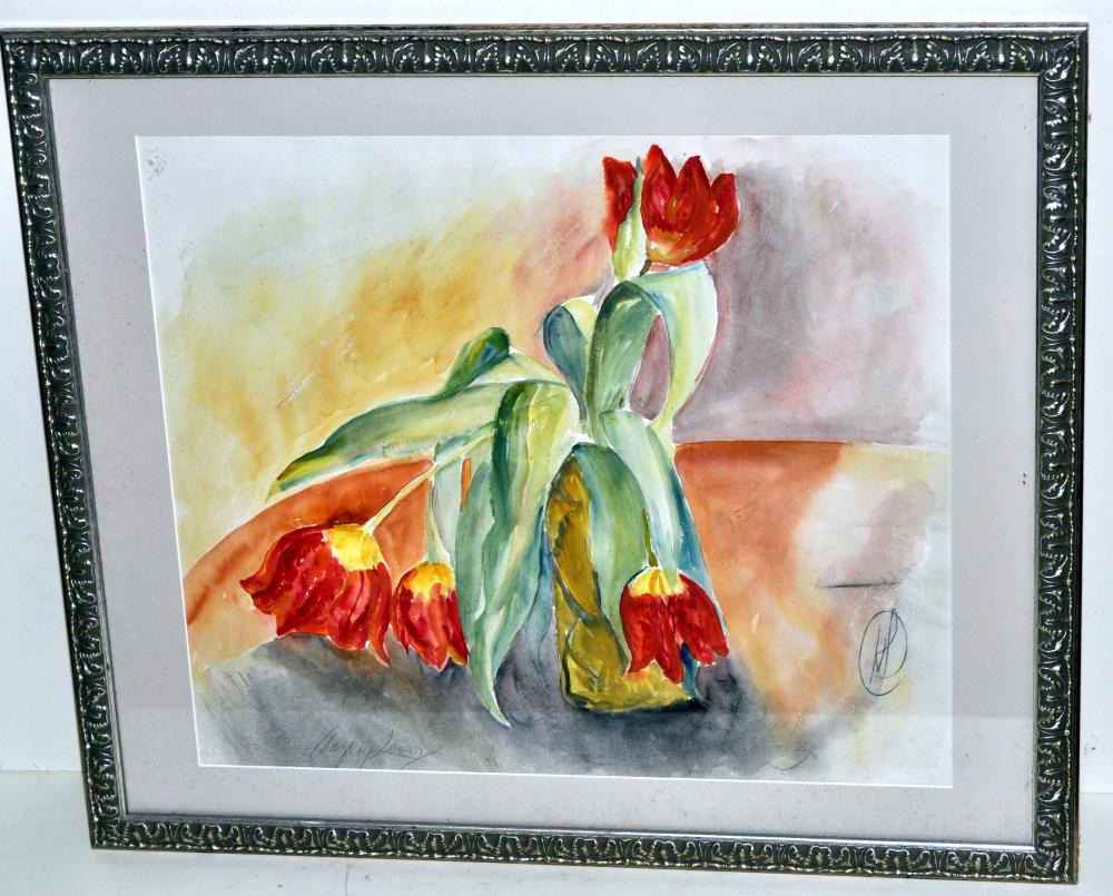 Hayley Lever watercolor tulips