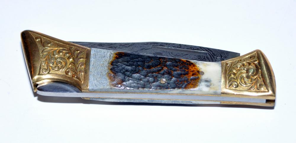 Lot 231: Pocketknife custom engraved blade