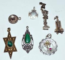 Lot 233: Sterling charm collection vintage